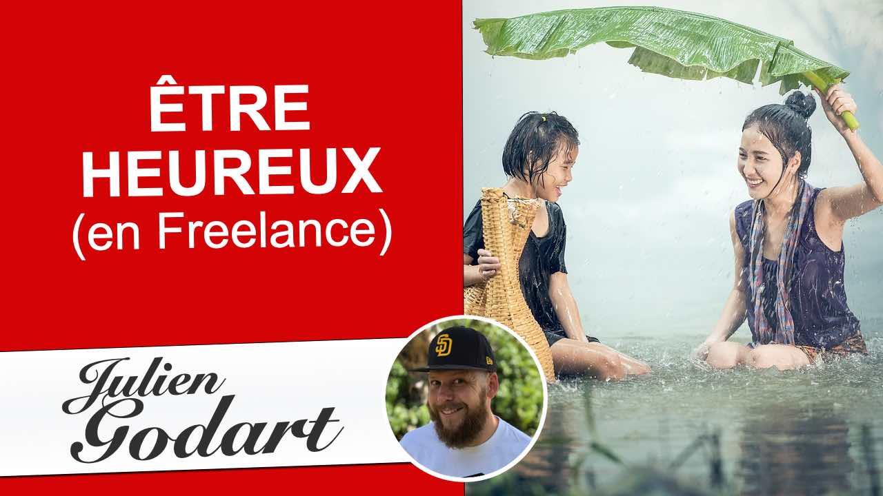 image d'une vidéo youtube de Julie Godart montrant comment être heureux et équilibré quand on est freelance