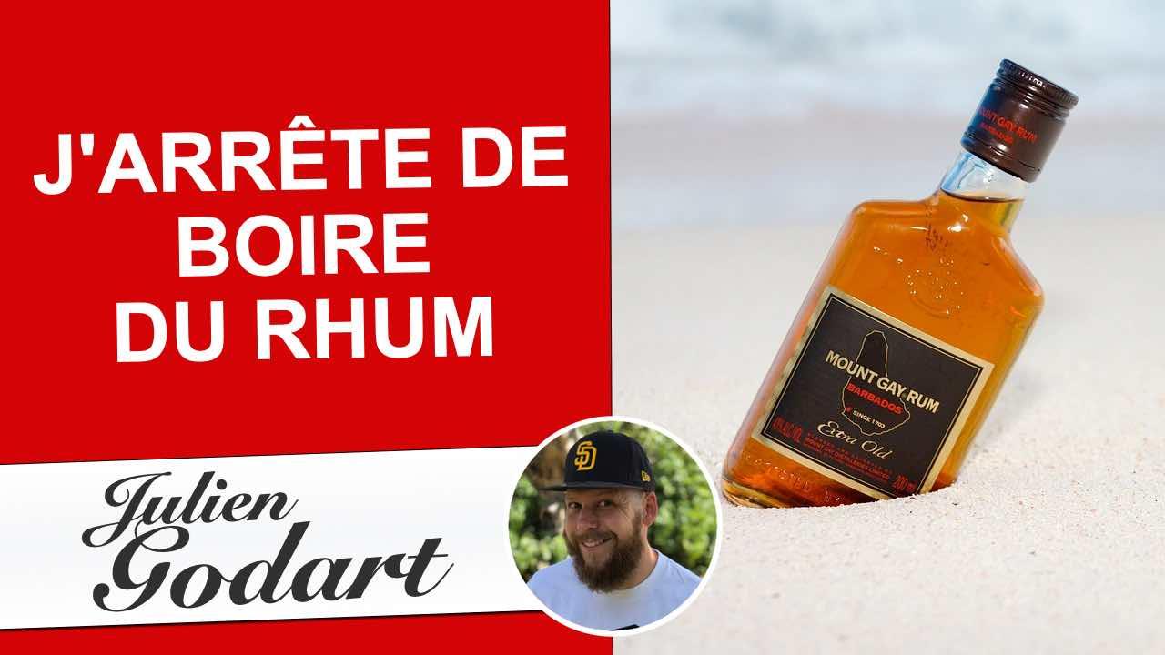 image d'une vidéo youtube de Julien Godart disant qu'il arrête de boire du rhum