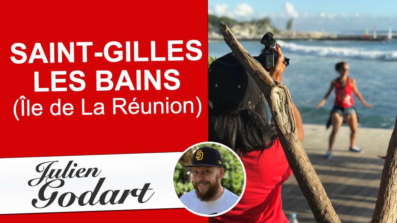 image de vidéo youtube du webmarketeur freelance Julien Godart montrant en vidéo une ballade dans la ville de Saint-Gilles les bains sur l'île de La Réunion