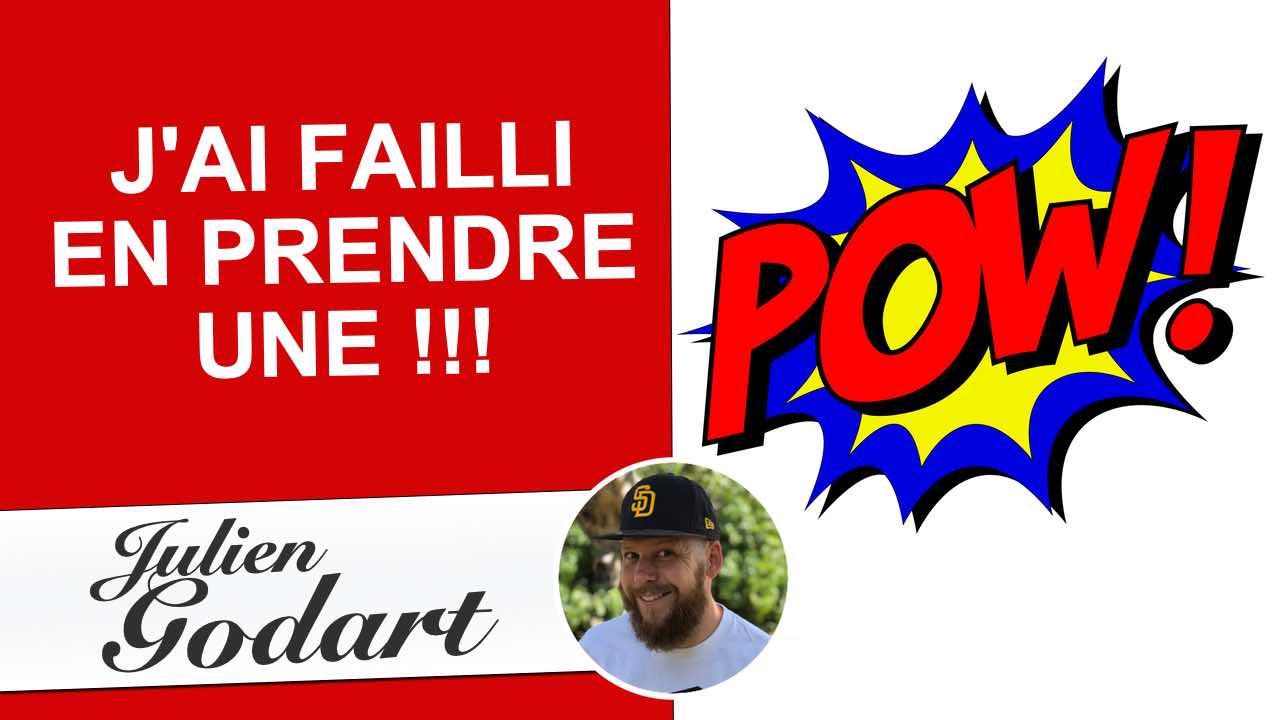 """image d'une vidéo youtube du webmarketeur freelance Julien Godart représentant la vidéo """"J'ai failli en prendre une"""""""